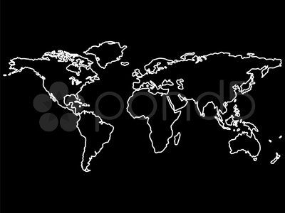 White world map outlines isolated on black background abstract art white world map outlines isolated on black background abstract art illustration illustration by 2robertosch gumiabroncs Images