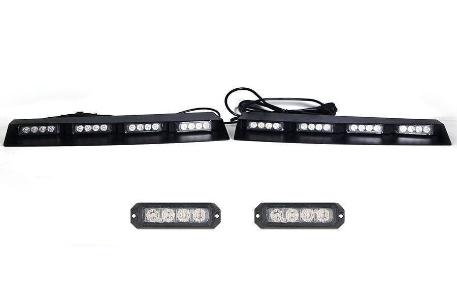 Elemental 40 Tir Led Visor Light Bar With 2 Pair Elemental