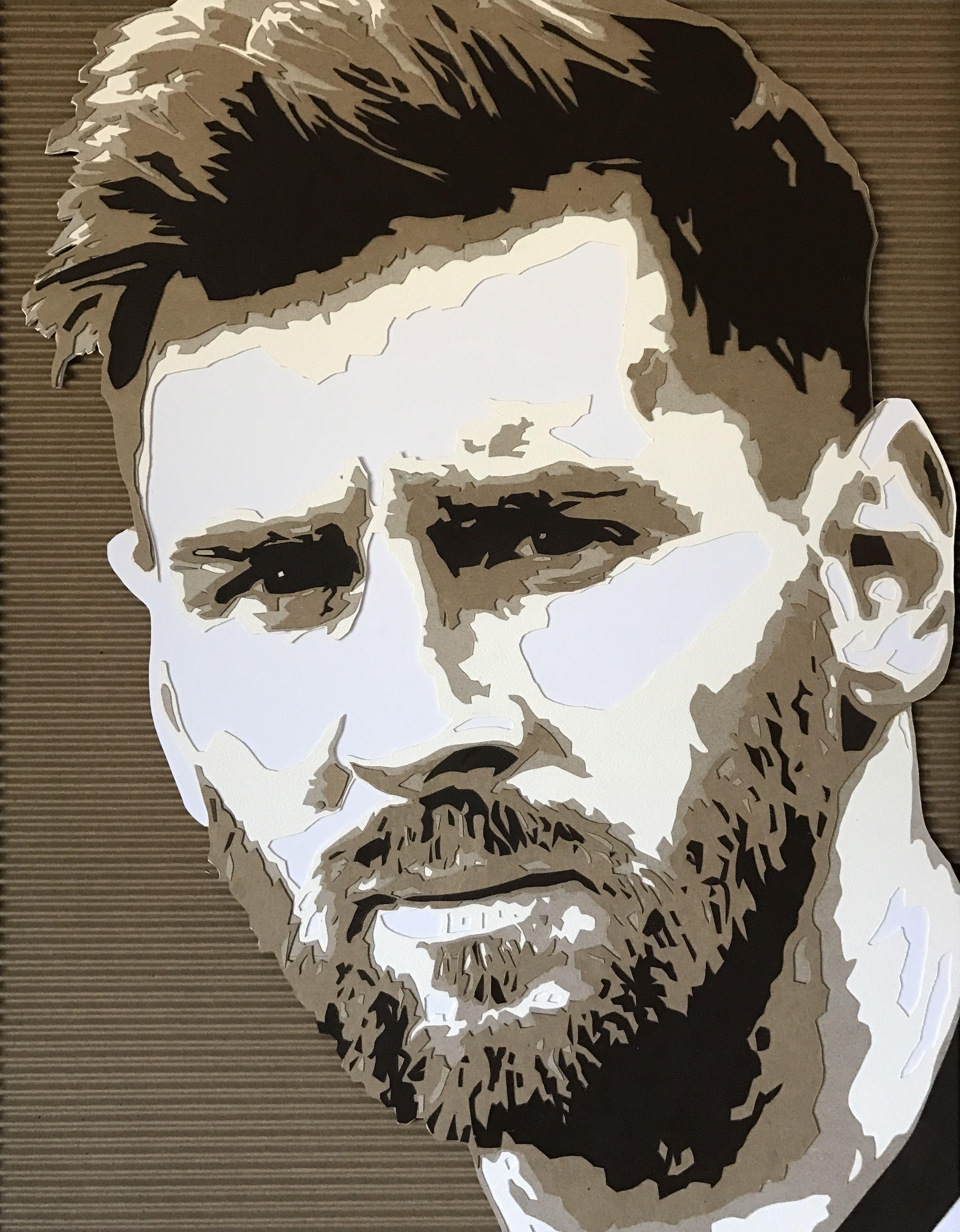 Cardboard portrait by Kevin Hartman: Messi 2 in 2019 ...