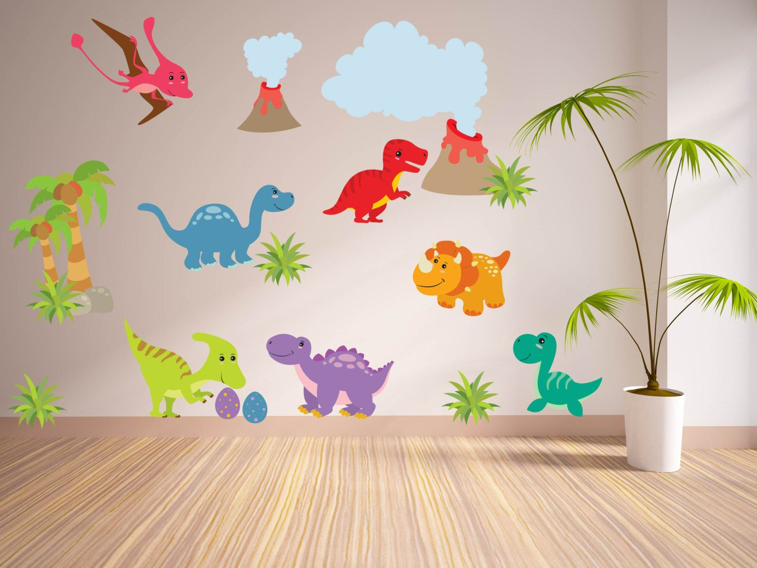 Best 25 Dinosaur Wall Decals Ideas On Pinterest