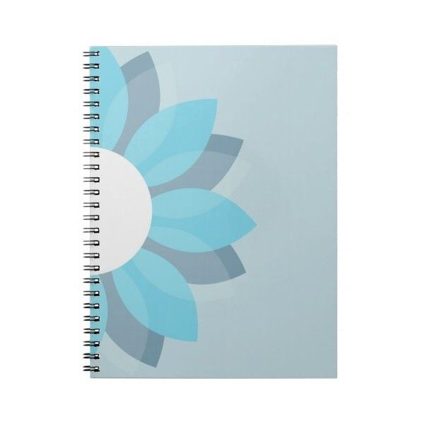 Blue Flower Notebook (46 BRL) ❤ liked on Polyvore featuring home, home decor and stationery