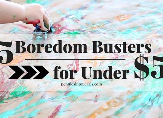5 Easy Boredom Buster Activities on a Budget | Rainy day ...