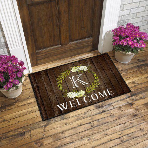 Monogrammed Door Mat Welcome Mat Front Door Mat Front Door Etsy Monogram Door Mat Door Mat Front Door Mats