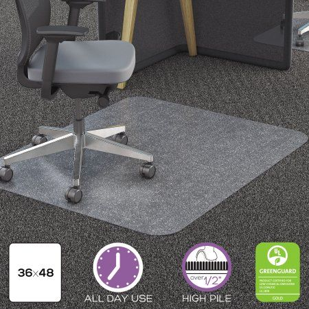 Deflecto 36 X 48 Chair Mat For Carpet And Hard Floor Rectangular Walmart Com In 2020 Chair Mats Types Of Carpet Used Chairs
