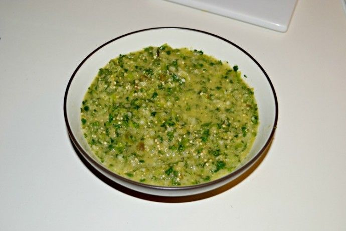 taco salad salsa verde