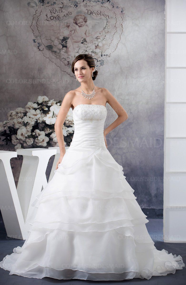 Colsbm celeste white bridal gowns in josh and angelaus
