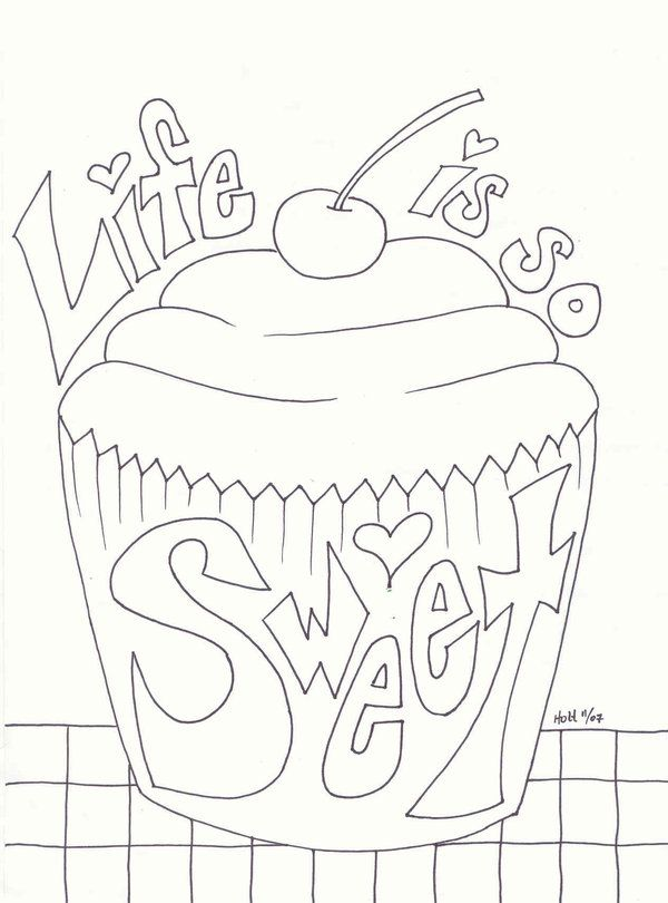 icolor cupcakes life is so sweet cupcake - Cupcakes Coloring Pages Printable