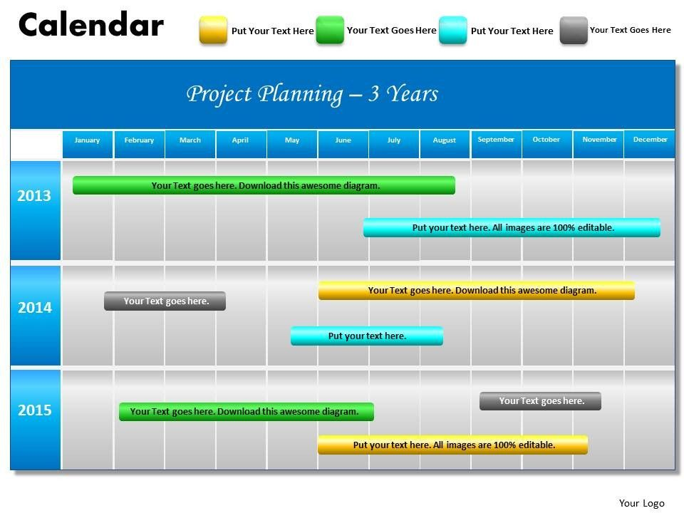 Image result for gantt chart infographic for year Project - free project planner template