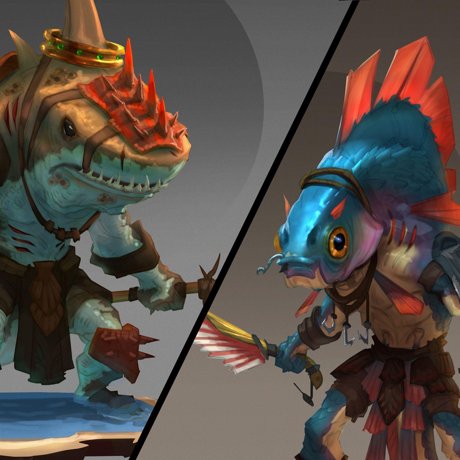 Pingl par kim brisebois sur creatures creature design - Croquis poisson ...