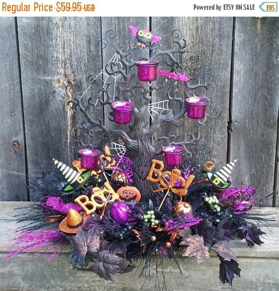 PRE-SEASON SALE Hallow' S Eve Haunted Tree Halloween Candle Holder Centerpiece by SparetimeSpecialties on Etsy https://www.etsy.com/listing/244046624/pre-season-sale-hallow-s-eve-haunted