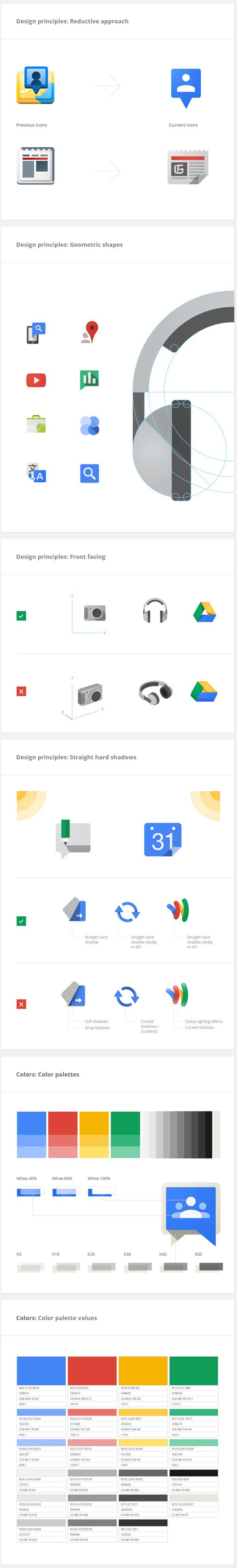 google visual guidelines ////  http://www.behance.net/gallery/Google-Visual-Assets-Guidelines-Part-1/9028077 //// http://www.behance.net/gallery/Google-Visual-Assets-Guidelines-Part-2/9084309