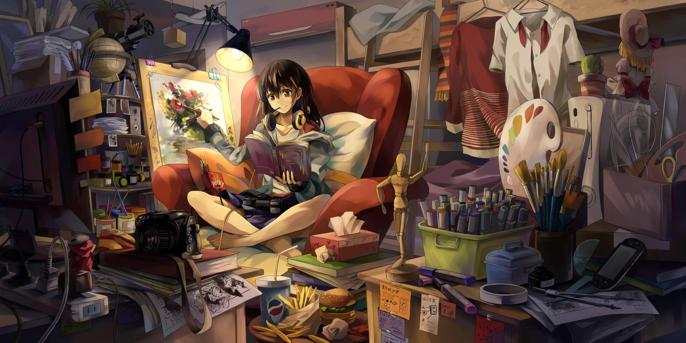 My Collection Of Anime Sceneries Anime Wallpaper Painting Of Girl Anime Scenery