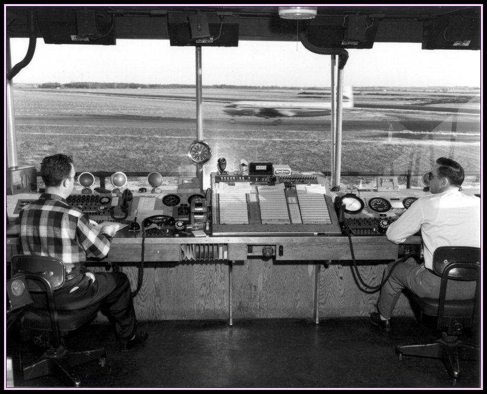 Air Traffic Control Tower 1950's... Air traffic control