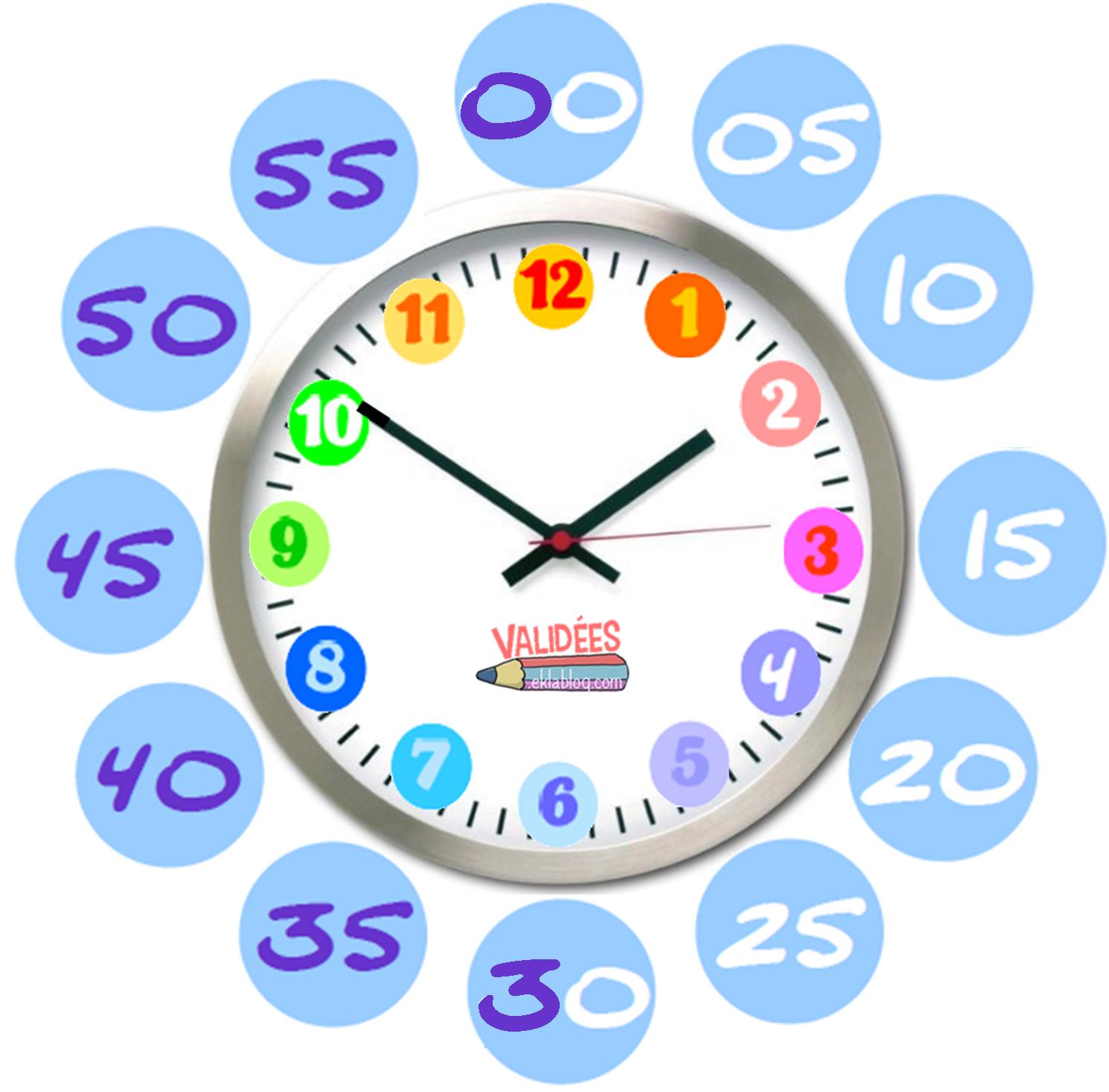 French Worksheet Reading Clocks