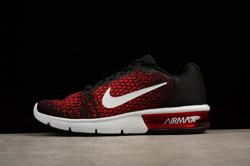 best service 9ca64 e1e95 AIR MAX SEQUENT BLACK UNIVERSITY RED COOL GREY METALLIC COOL GREY Price