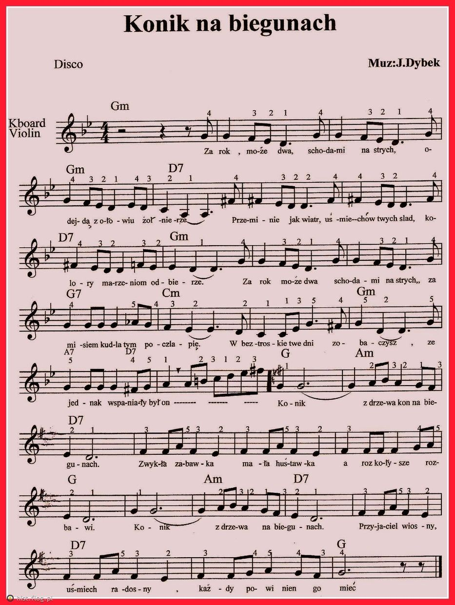 Konik Na Biegunach Fotoblog Piosenki Na Gitare Nuty Notatki Muzyczne