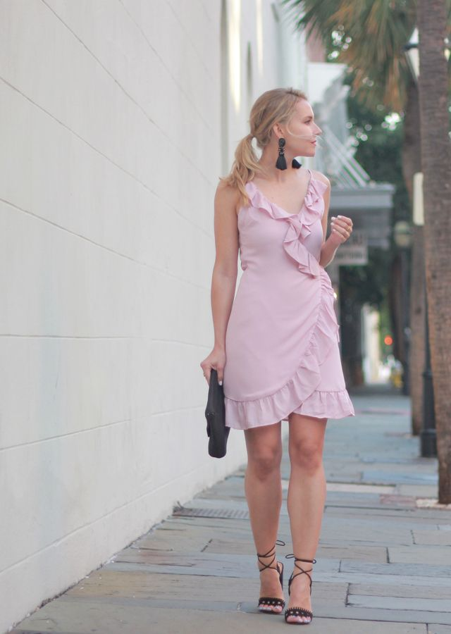ad3a881ba14 The Steele Maiden: Summer Date Night Style - Pink Ruffle Wrap Dress ...