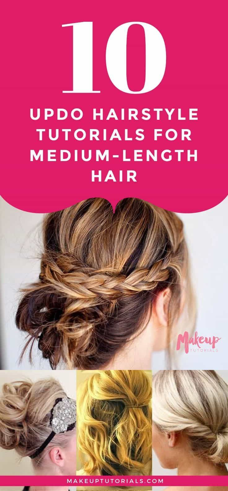 Hairstyle tutorials updo hairstyle tutorials for mediumlength