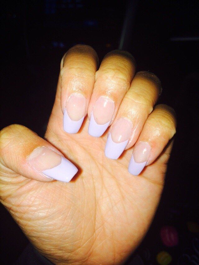 Ballerina cut with long French tips acrylic nails | Yelp | 3. Double ...