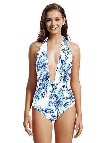 26d19b6013dda Bathing Suits · Beachwear · Swimming · zeraca Women's Deep Plunge Backless  High Waisted One Piec... https://