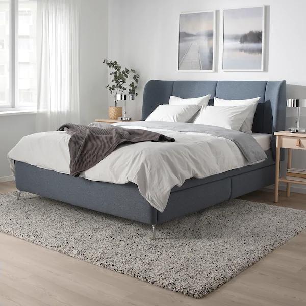 Tufjord Upholstered Storage Bed, Upholstered Platform Bed Queen Ikea