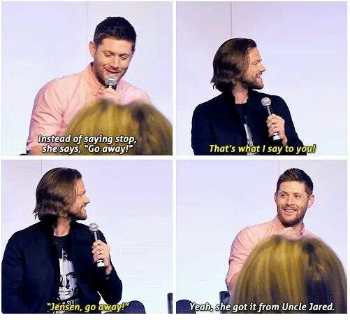 Jensen about JJ :3 | via Facebook on We Heart It