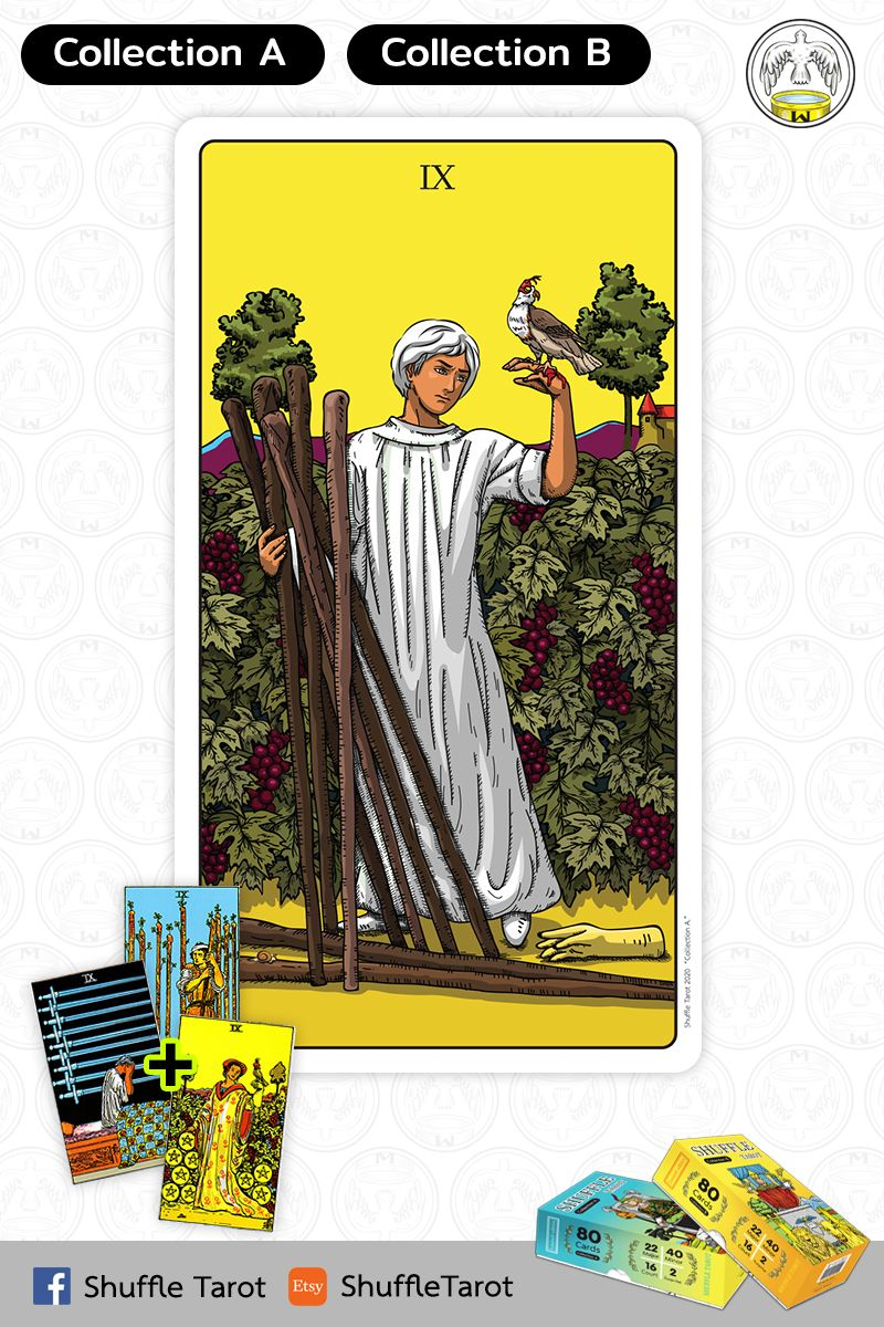 Shuffle tarot collection a nine of wands in 2020