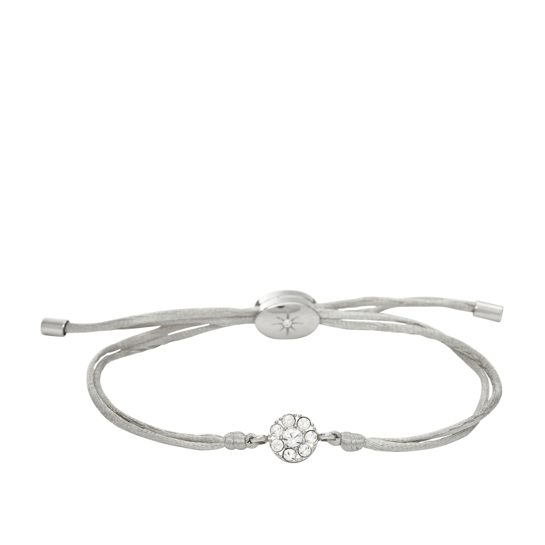 Bracciale in cordino argento con cristalli FOSSIL Jewels