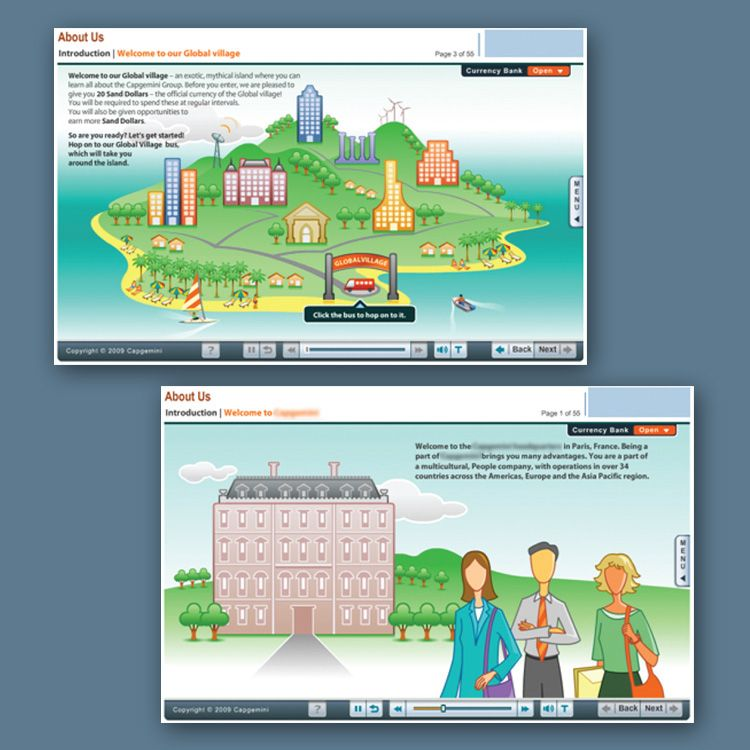 Corporate Learning Programs Elearning On Behance Instructional