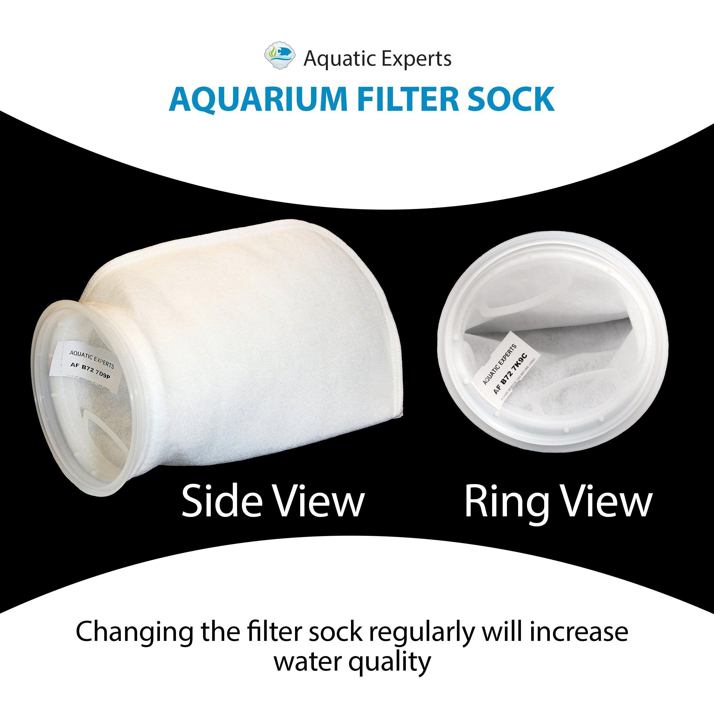 068c2b3fe1d5 7 Inch Filter Socks 200 Micron 7 Inch Ring by 16 Inch Long Filter Socks  LONG Premium Aquarium Felt Filter Bags Custom Made In The USA For Aquatic  Experts 2 ...