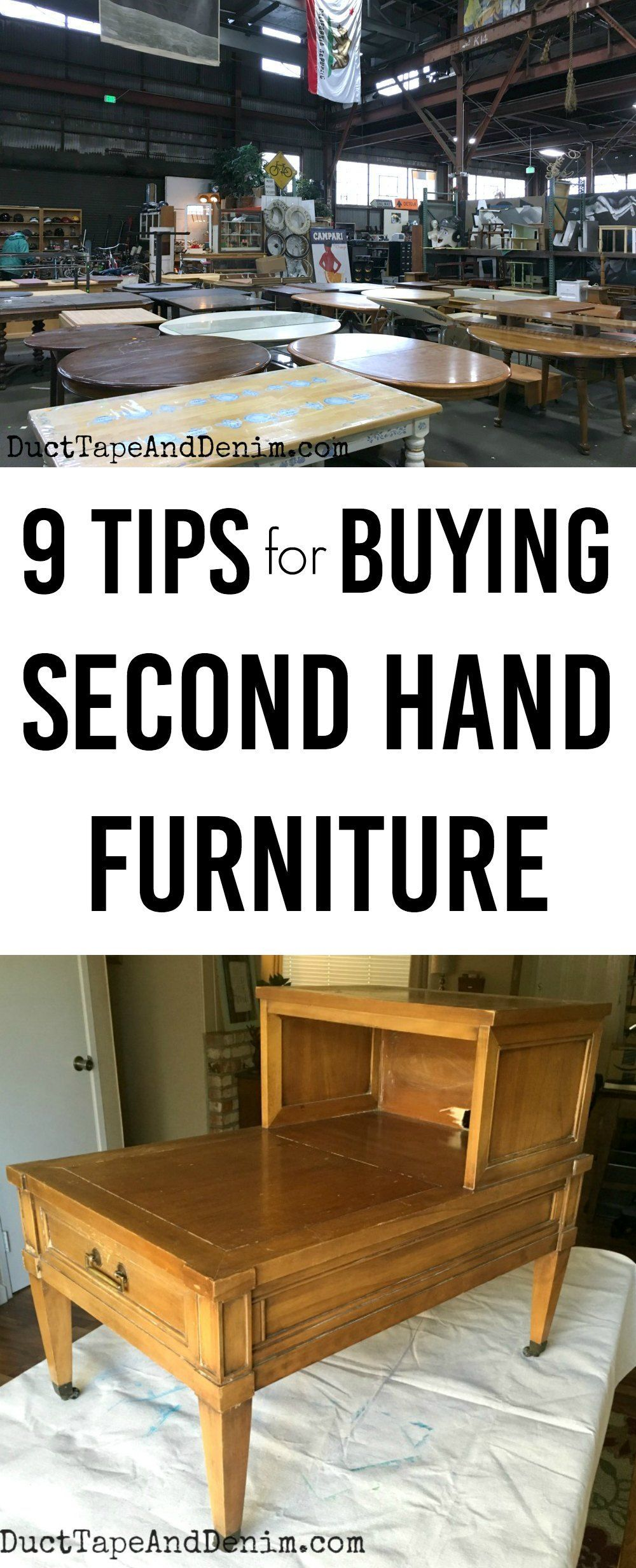 tips for buying second hand furniture ducttapeanddenim com rh pinterest com