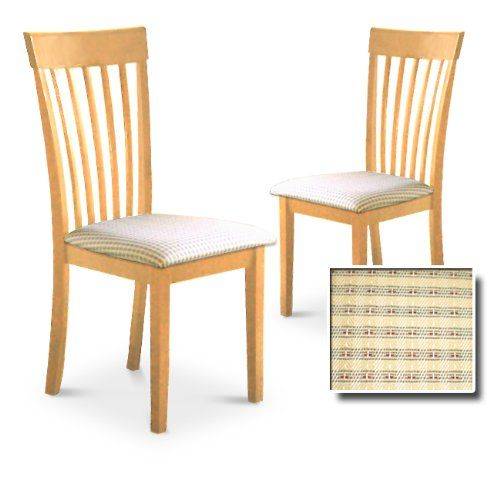 Natural Finish Kitchen Dining Dinette Set Of 2 Chairs  Great For Classy 2 Chair Dining Room Set Design Inspiration