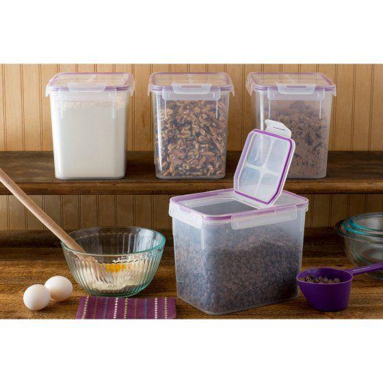 Snapware Airtight Plastic 17 Cup Fliptop Food Storage Container, Set Of 4 | Storage  Containers, Food Storage And Storage