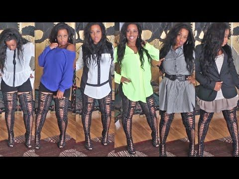 Thigh High Lace Up Boots ~ Zigi Girl Piarry/Pria - YouTube