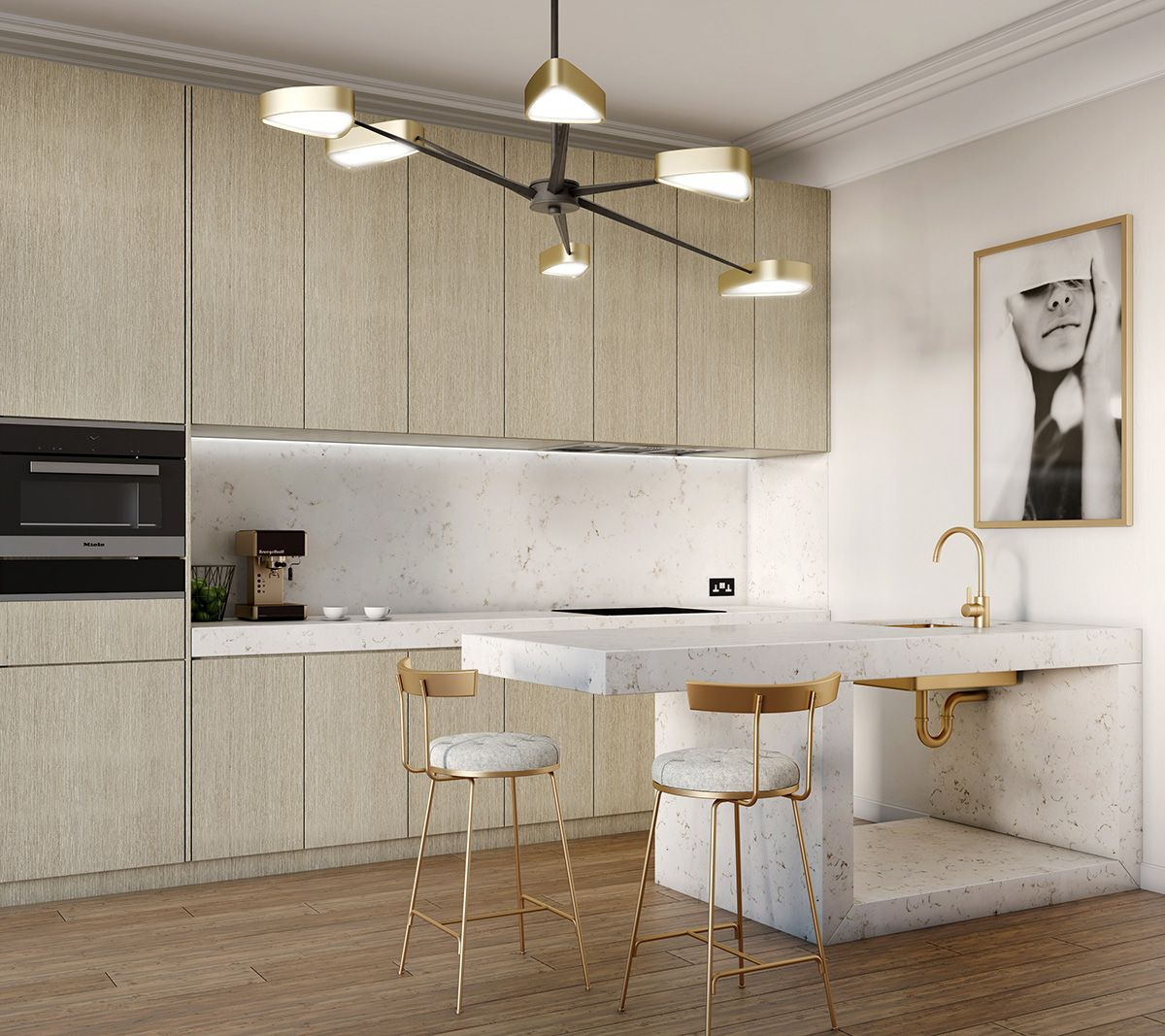 Kitchen And Bath Ideas: Whitewashed Oak Riven Finish