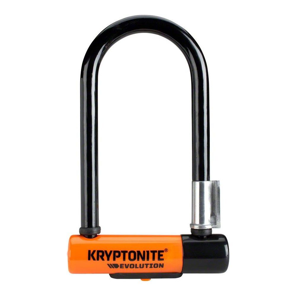 "3.25 x 7/"" Kryptonite Evolution Mini-7 U-Lock with 4/' Flex Cable"