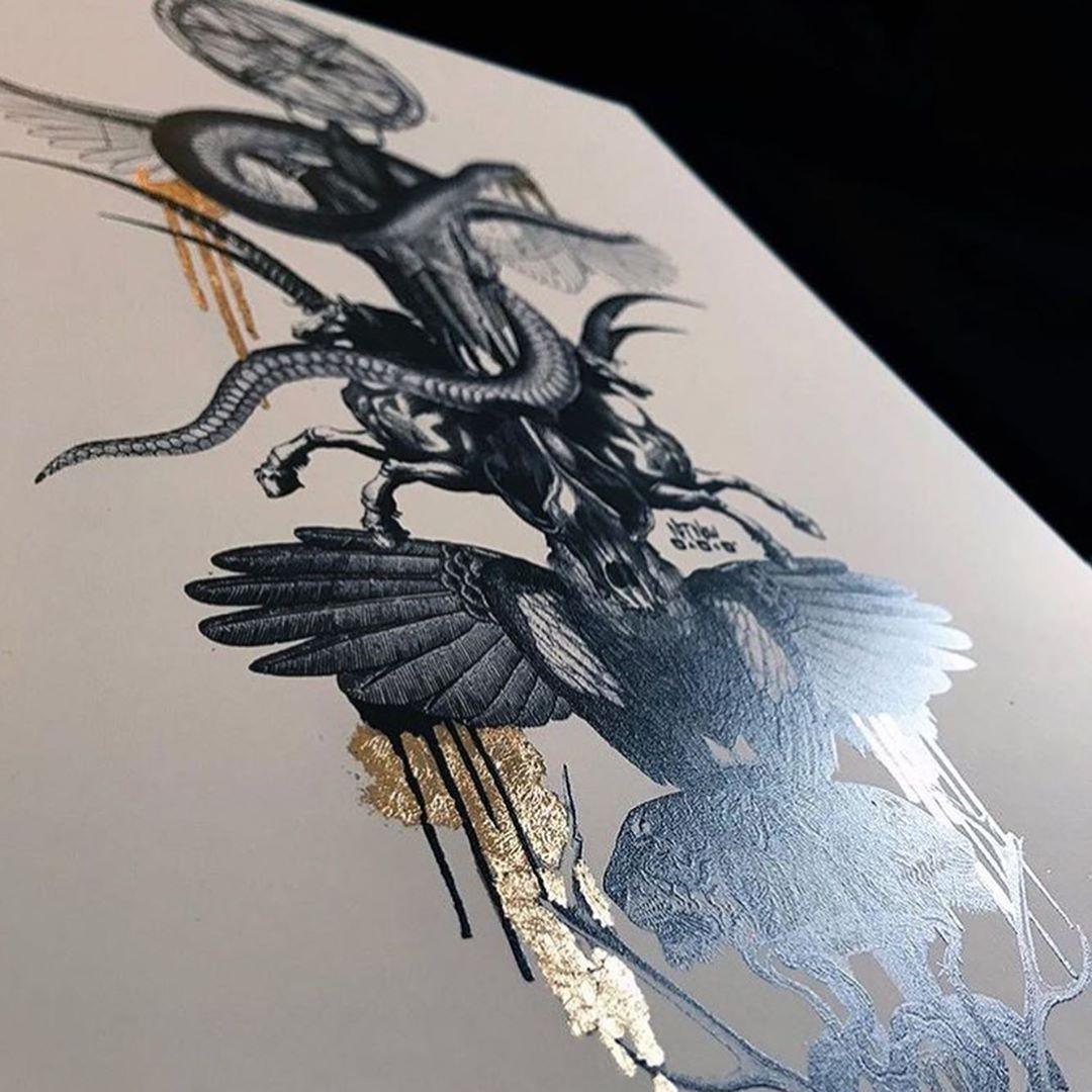 TOTEM II #limitededitionprint #reflectiveink #goldleaf #totempole #handfinishedprint #totem #limitededitionprints #framedprint #interiordesign #tattooart #handfinished #handfinishedprint #tattooart #screenprint #screenprinter #screenprintartist #londonartist  #ink #inked #blackink #framedprint #vintage #interiordesign #handfinishedprint #screenprinter #screenprintartist #londonartist #contemporaryart #inked #gicleeprint #artistsofinstagram #tattooartist #gold #etching #engraving #handdrawn