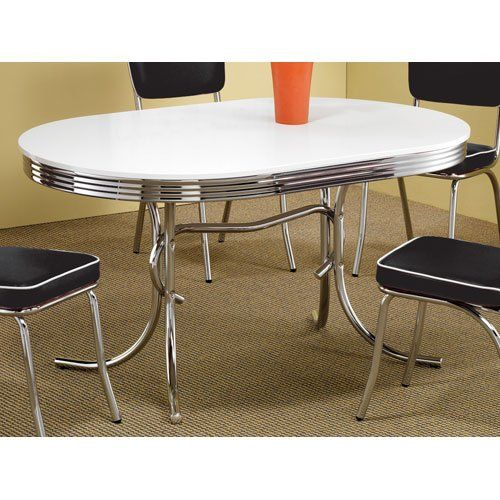 Yahaira $16900 Coaster 50's Retro Nostalgic Style Oval Dining Extraordinary Coaster Dining Room Furniture Review