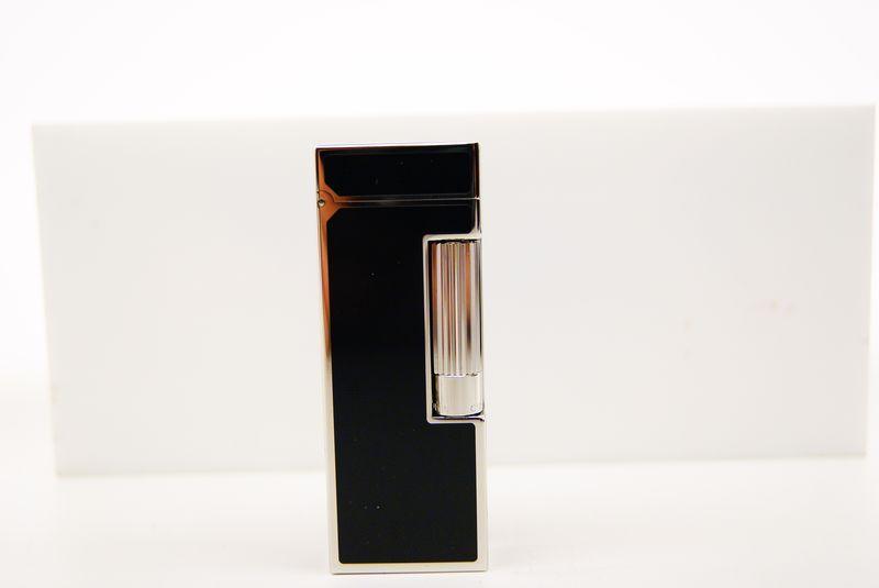 Accendini Dunhill : Dunhill rollagass lacca cina nero finitura palladio - Tabaccheria Sansone - Pipe Tabacco Sigari - Accessori per fumatori