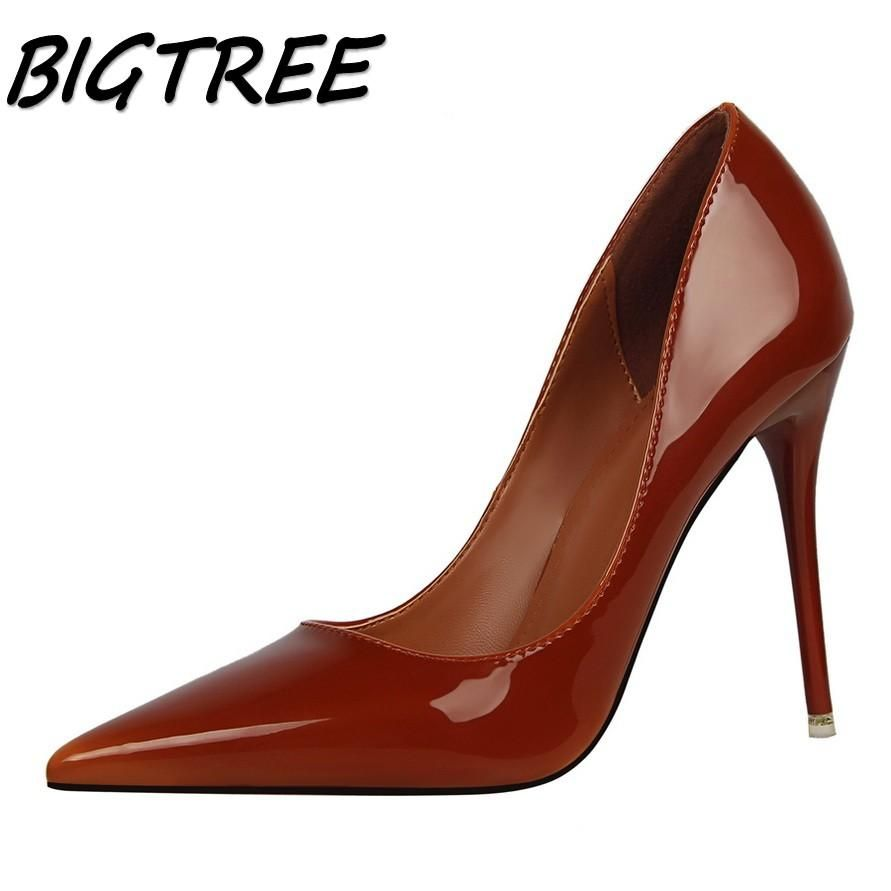 3364ca4b9197 women Pointed Toe High heel shoes woman shallow pumps ladies Nightclub Thin  Heels stilettos shoes 34-39