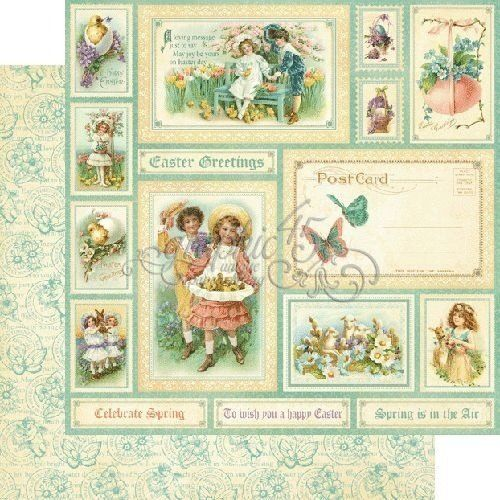 Papel Scrapbook - Easter Greetings - Graphic 45 - Scrap Mimos