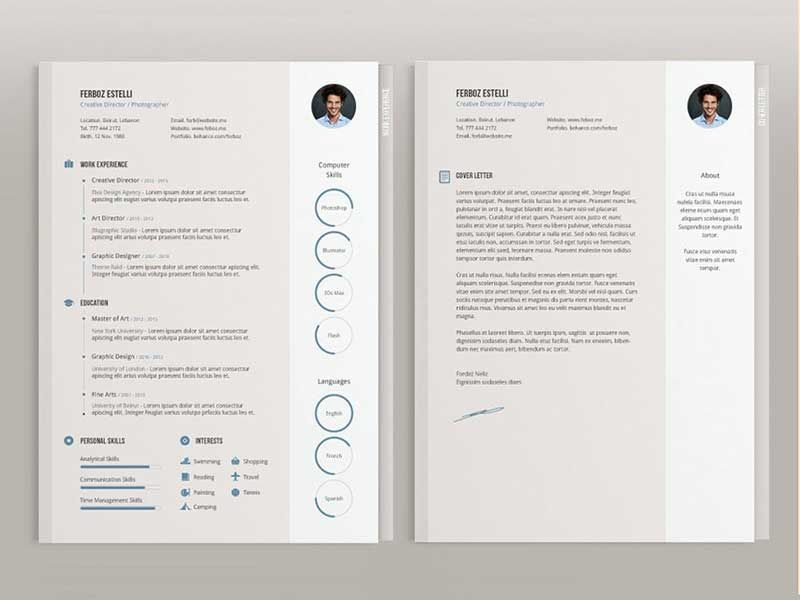 20  best resume template psd free download