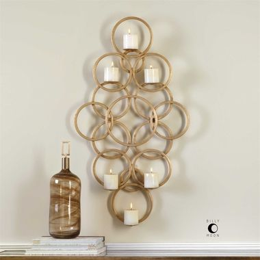 Uttermost Coree Gold Rings Wall Sconce Sconces Wall