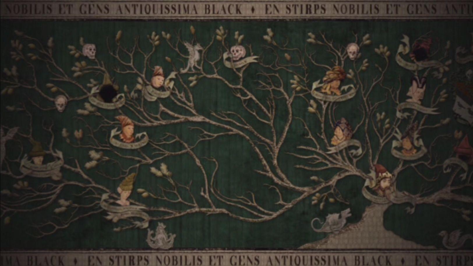 Black Family Tapestry Harry Potter Family Tree Tree Tapestry Tapestry
