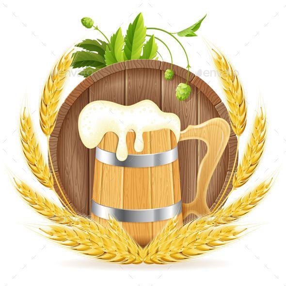 Barrel Of Beer And Wooden Mug Oktoberfest Beer Beer Logo Octoberfest Beer
