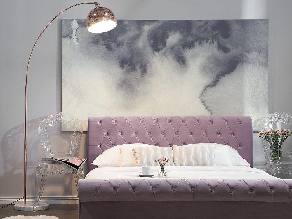 Velvet Eu Super King Size Bed Pink Avallon Super King Size Bed