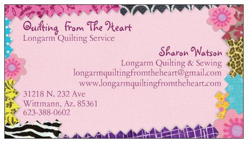 Stop by for our may special on longarm quilting www create custom business cards with vistaprint templates choose from thousands of business card designs or upload your own reheart Choice Image