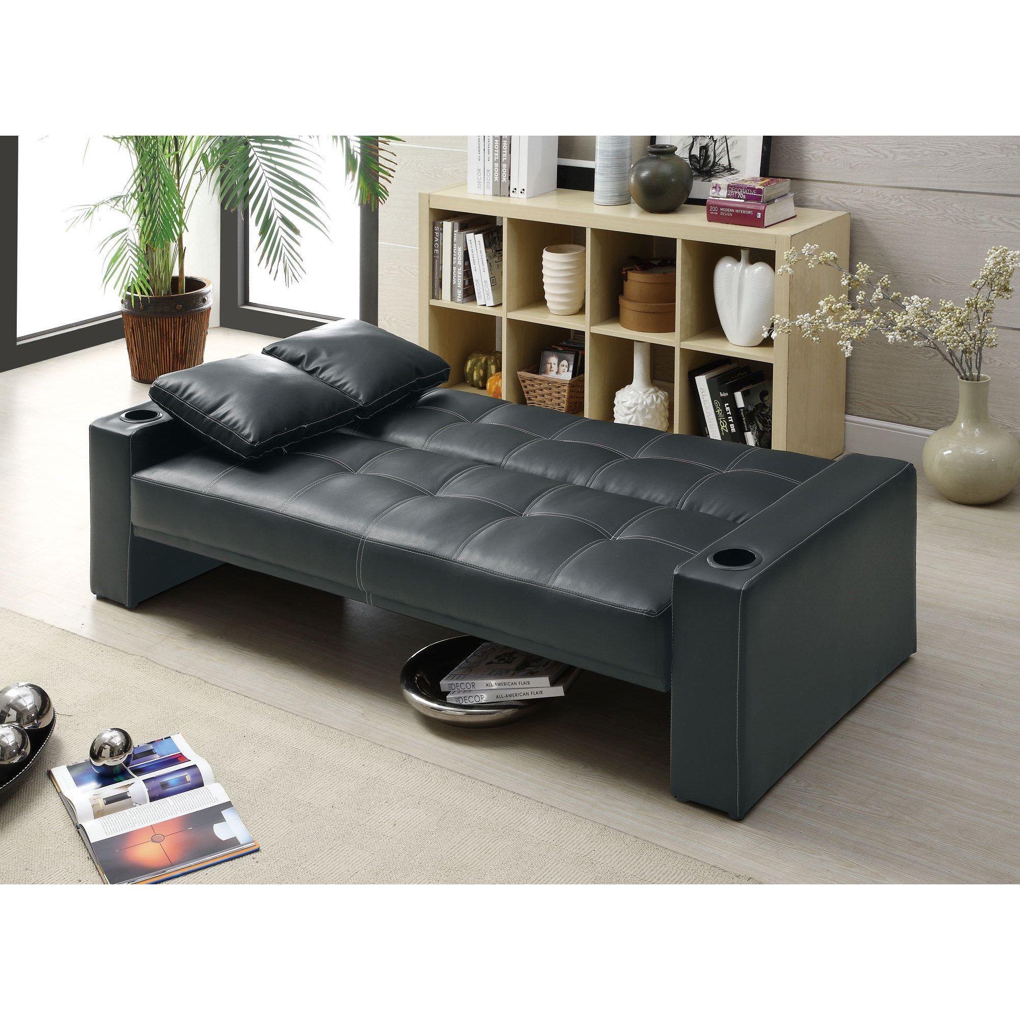 Coaster Company Black Sofa Bed Black Faux Leather Sofa Bed