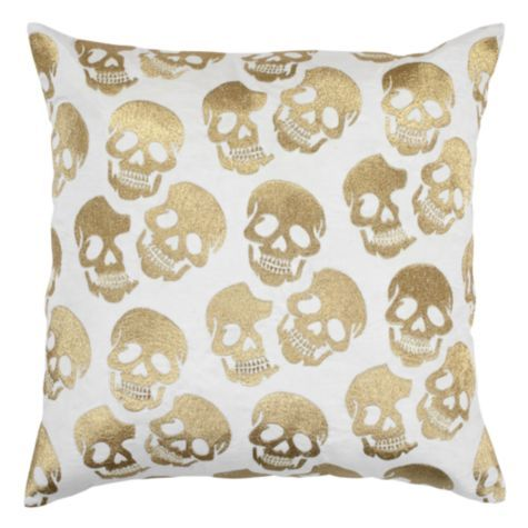 Skull Pillow 24 Gold From Z Gallerie If I Ever Were Really