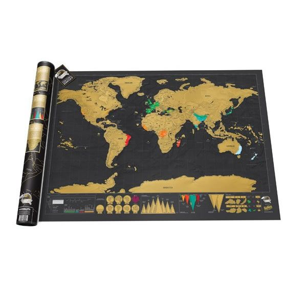 Like to travel the world but prefer First Class? You'll need a suitably luxurious Scratch Map to adorn your walls, showing off all your adventures, Deluxe style!